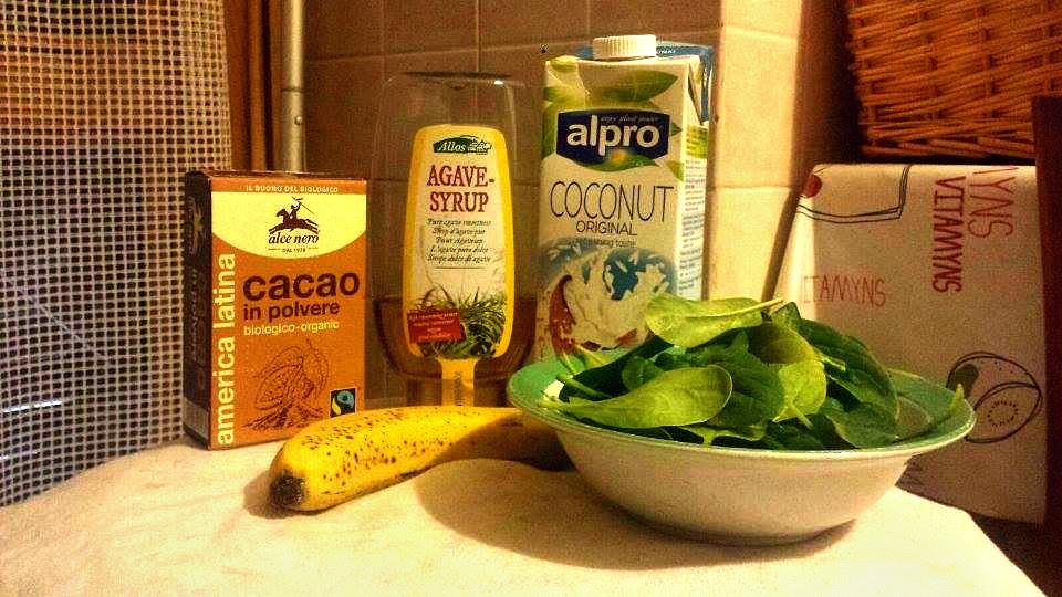 ingredienti frulllato ciocc