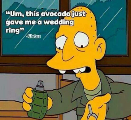 avocado wedding